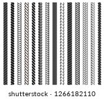 rope brushes frame  decorative... | Shutterstock .eps vector #1266182110