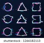 glithc effect art frame dynamic ... | Shutterstock .eps vector #1266182113