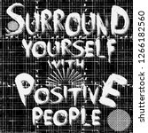 surround yourself with positive ... | Shutterstock .eps vector #1266182560
