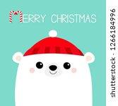 merry christmas. polar white... | Shutterstock .eps vector #1266184996