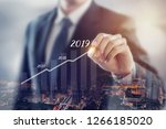 growth in 2019 year concept.... | Shutterstock . vector #1266185020