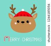 Merry Christmas. Raindeer Deer...