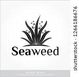 seaweed vector template   Shutterstock .eps vector #1266186676