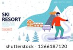 ski resort web page concept... | Shutterstock .eps vector #1266187120