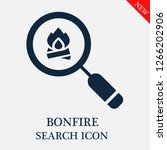 bonfire search icon. bonfire... | Shutterstock .eps vector #1266202906