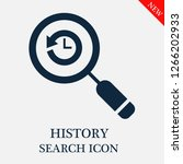 history search icon. history...