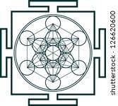 yantra   metatrons cube  ... | Shutterstock .eps vector #126620600