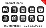 cabinet icon set. 10 filled... | Shutterstock .eps vector #1266219313