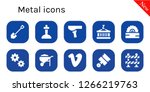 metal icon set. 10 filled... | Shutterstock .eps vector #1266219763