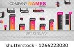 set signage. a set of... | Shutterstock .eps vector #1266223030