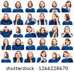 set of emotional pictures of... | Shutterstock . vector #1266228670