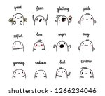 emotions and feelings set of... | Shutterstock .eps vector #1266234046