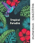 tropical paradise. tropical... | Shutterstock .eps vector #1266235546