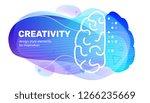 vector creative business blue... | Shutterstock .eps vector #1266235669