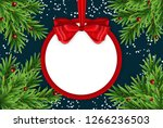 abstract holiday new year and... | Shutterstock . vector #1266236503
