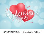 flying balloons from the heart... | Shutterstock .eps vector #1266237313