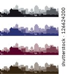 set of cityscapes | Shutterstock .eps vector #126624200