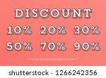 creative discount percentage... | Shutterstock .eps vector #1266242356