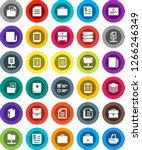 white solid icon set  case... | Shutterstock .eps vector #1266246349