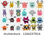 cute monsters characters... | Shutterstock .eps vector #1266247816