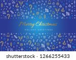merry christmas and happy new... | Shutterstock .eps vector #1266255433
