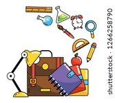 school study element cartoon | Shutterstock .eps vector #1266258790
