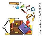 school study element cartoon | Shutterstock .eps vector #1266258790