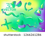 vector holographic background... | Shutterstock .eps vector #1266261286