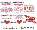 valentine's day labels... | Shutterstock .eps vector #1266262090