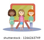 elementary school cartoon | Shutterstock .eps vector #1266263749