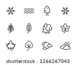 nature icons. set of line icons ... | Shutterstock .eps vector #1266267043