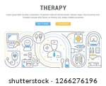 linear banner of the therapy.... | Shutterstock .eps vector #1266276196
