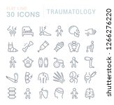 set of vector line icons of... | Shutterstock .eps vector #1266276220