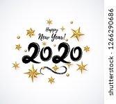 2020 hand written lettering... | Shutterstock .eps vector #1266290686