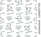 seamless pattern with bow ... | Shutterstock .eps vector #1266297763