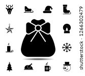sack with a bow icon. simple...