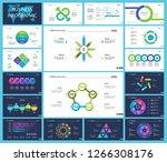 set of financial analysis... | Shutterstock .eps vector #1266308176