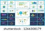 set of financial analysis... | Shutterstock .eps vector #1266308179