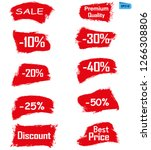 sell red grunge icon paint... | Shutterstock .eps vector #1266308806