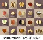 nut seeds icon set. flat set of ... | Shutterstock .eps vector #1266311860