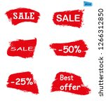 sell red grunge icon paint... | Shutterstock .eps vector #1266312850