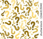 quiz seamless pattern. question ... | Shutterstock .eps vector #1266315040