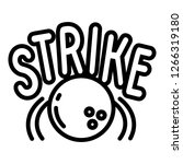 bowling strike icon. outline... | Shutterstock .eps vector #1266319180