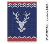 reindeer head silhouette on... | Shutterstock .eps vector #1266325306