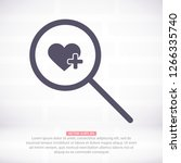 search heart  icon vector