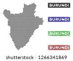 vector dot abstract burundi map ... | Shutterstock .eps vector #1266341869