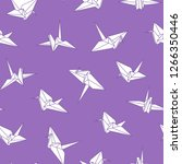 vector seamless origami pattern ... | Shutterstock .eps vector #1266350446
