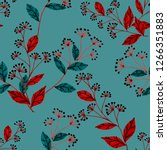 seamless pattern with hand... | Shutterstock . vector #1266351883