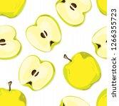 fruit pattern background... | Shutterstock .eps vector #1266355723