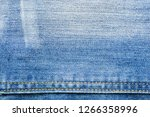 denim fabric texture with... | Shutterstock . vector #1266358996